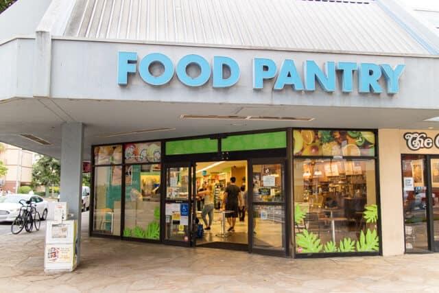 ハワイのスーパーFOOD PNTRY入口