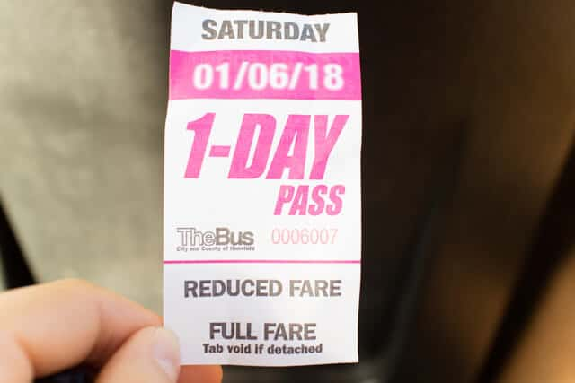 The bus1day pass