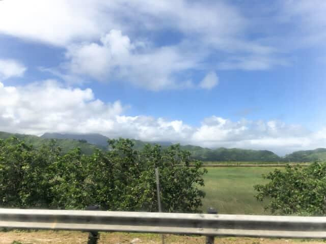 カイルア行きバスの風景