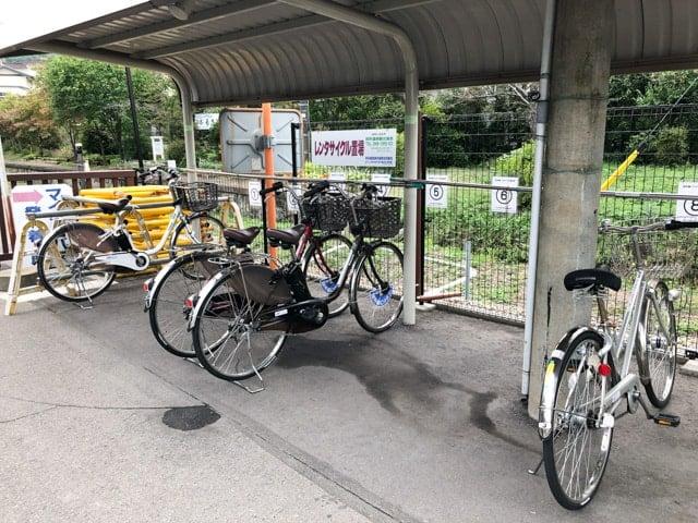 別所線別所温泉駅のレンタサイクル