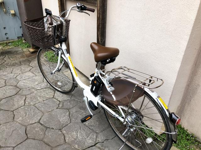 別所温泉駅のレンタサイクルの自転車