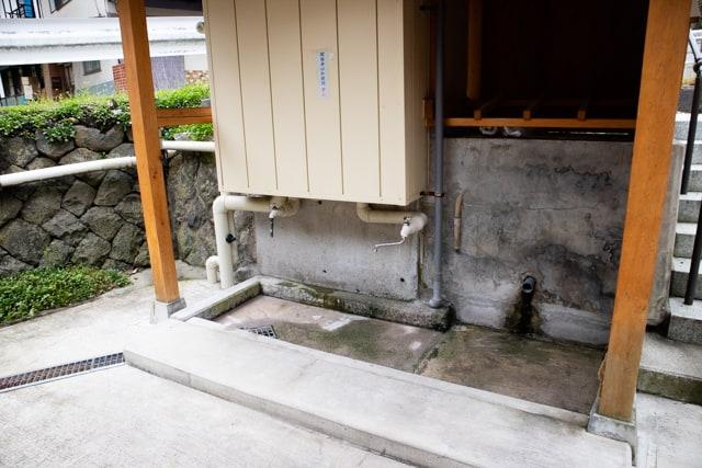 別所温泉の大湯近くの洗い場