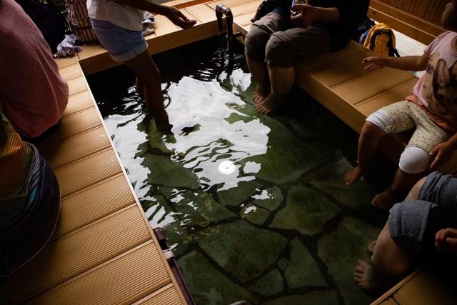 別所温泉の大湯近くの足湯