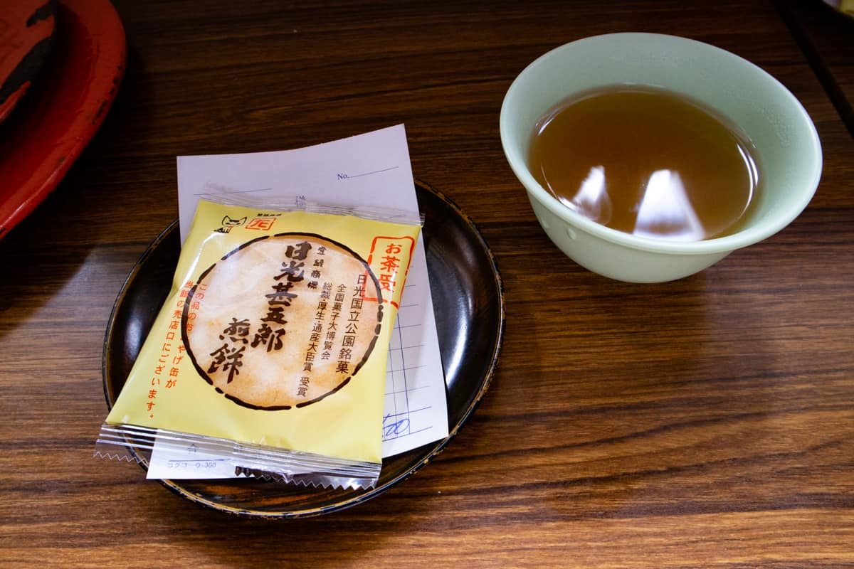 日光温泉寺のお菓子