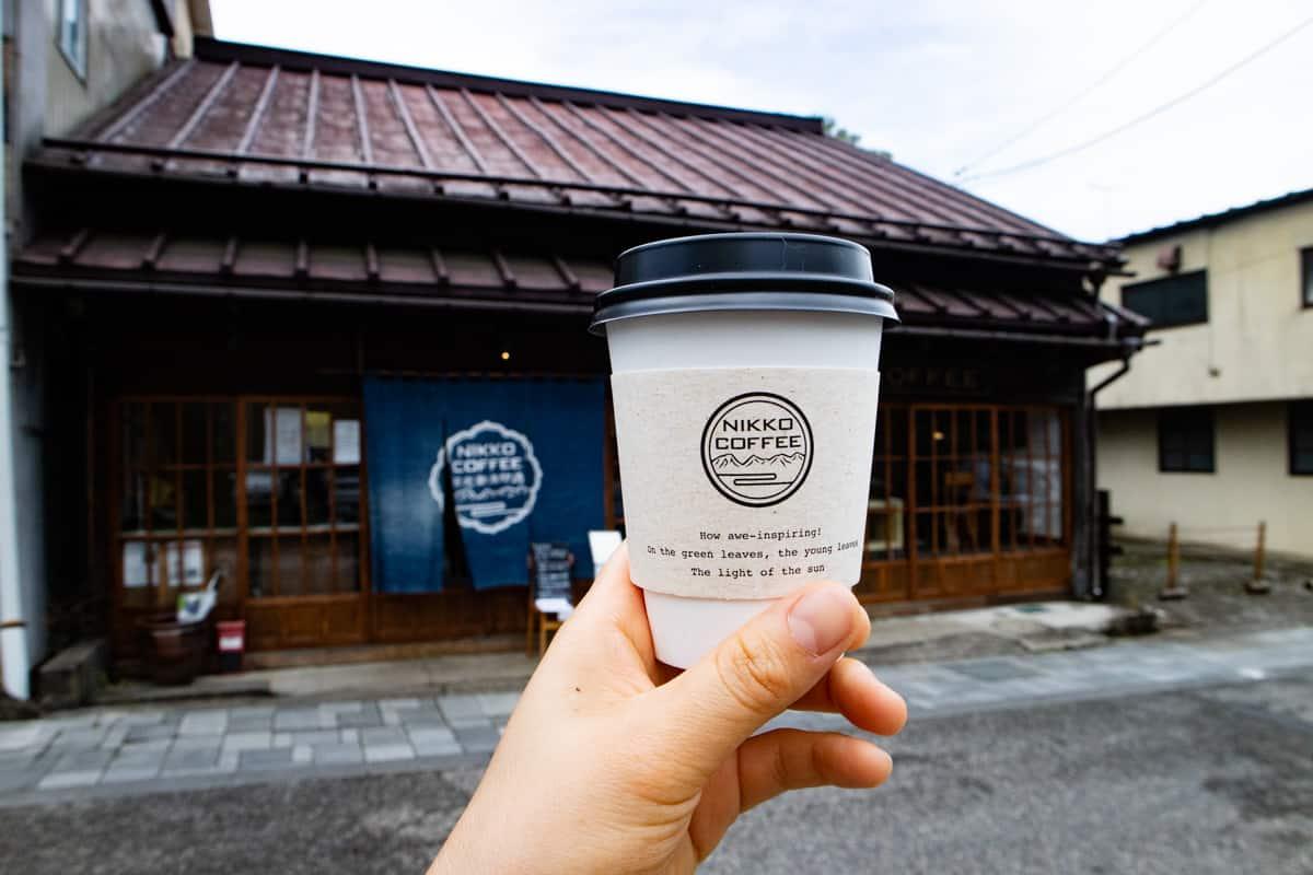 日光珈琲御用邸通店のカフェラテ