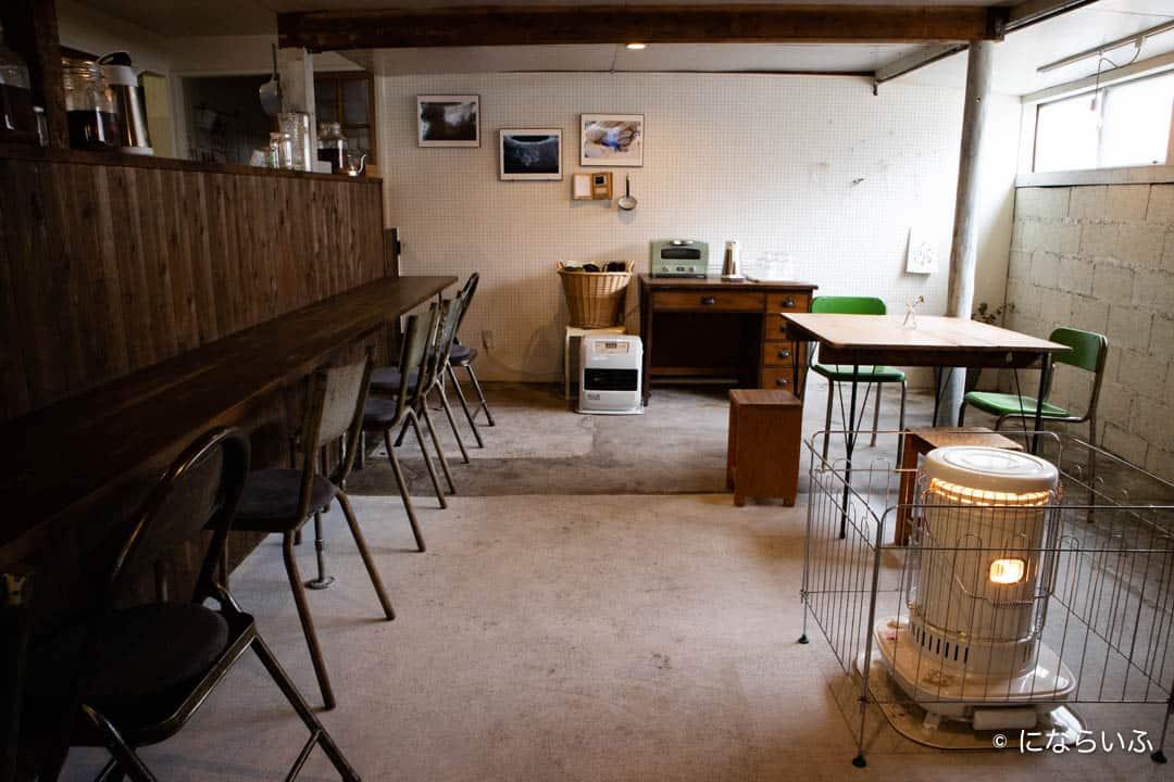 別所温泉まるふじの喫茶スペース