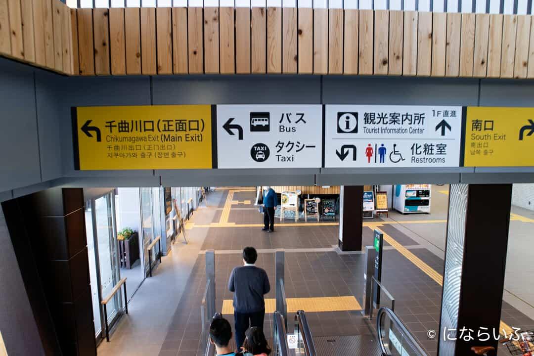飯山駅の構内