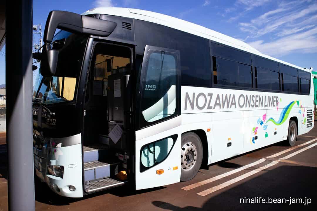 飯山駅のバス・野沢温泉ライナー