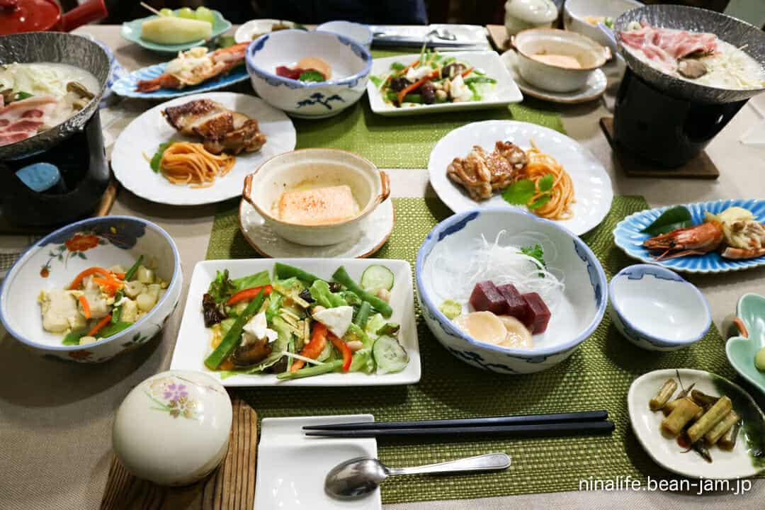 野沢温泉・池元の夕食