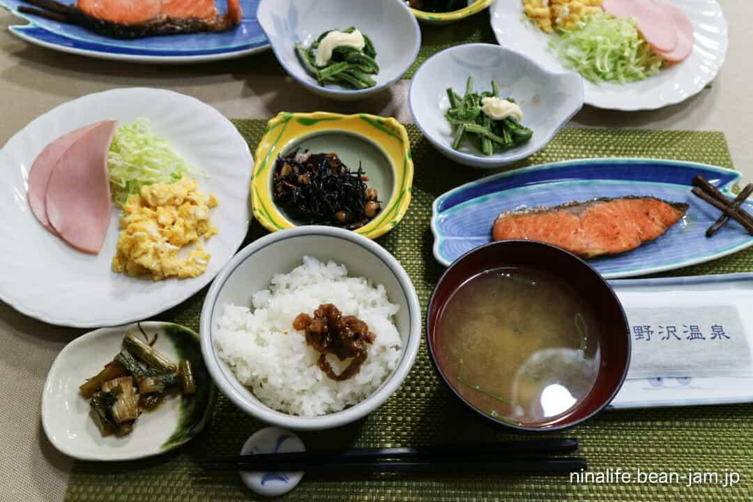 野沢温泉・池元の朝食