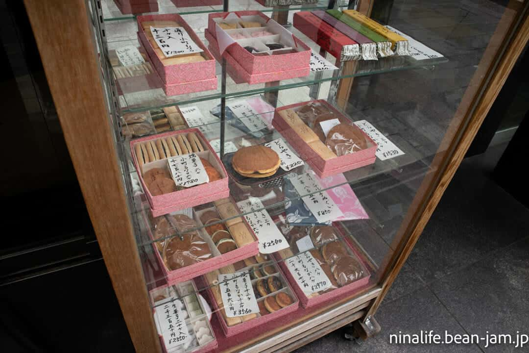 日本橋うさぎや中央通り店のケース