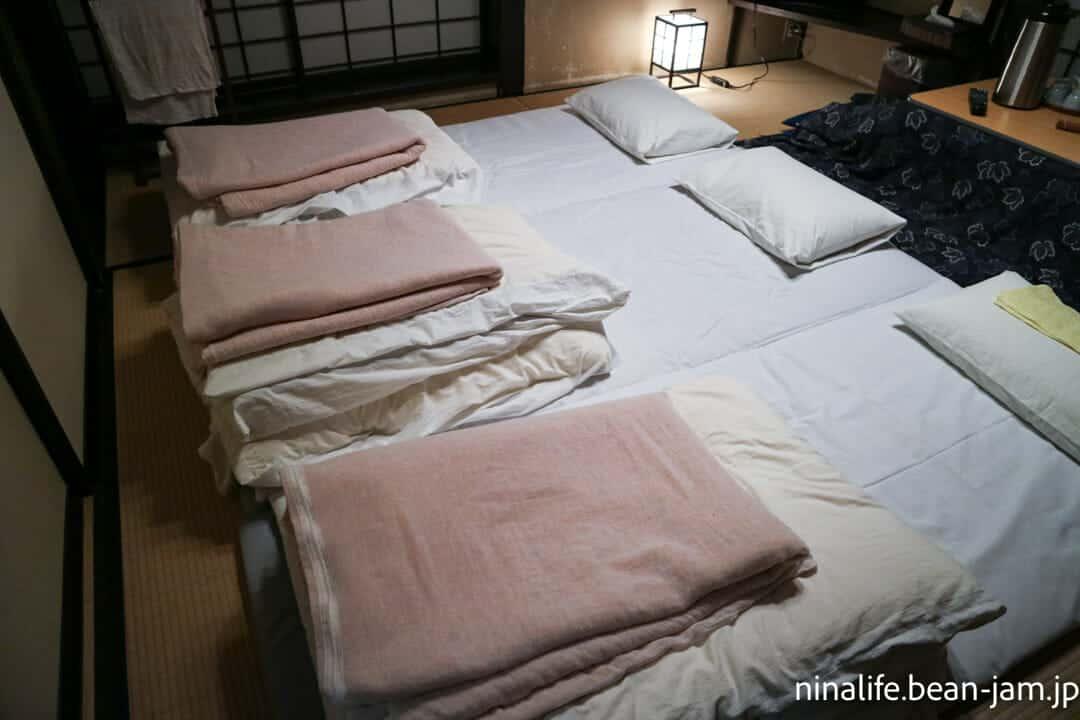 野沢温泉民宿・いけしょう部屋の布団